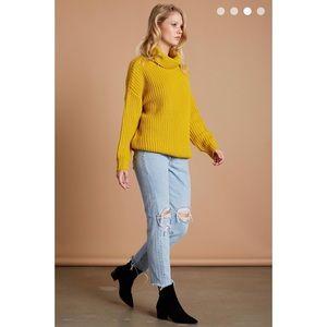 Cotton Candy Sweaters - Knit Sweater - Mustard
